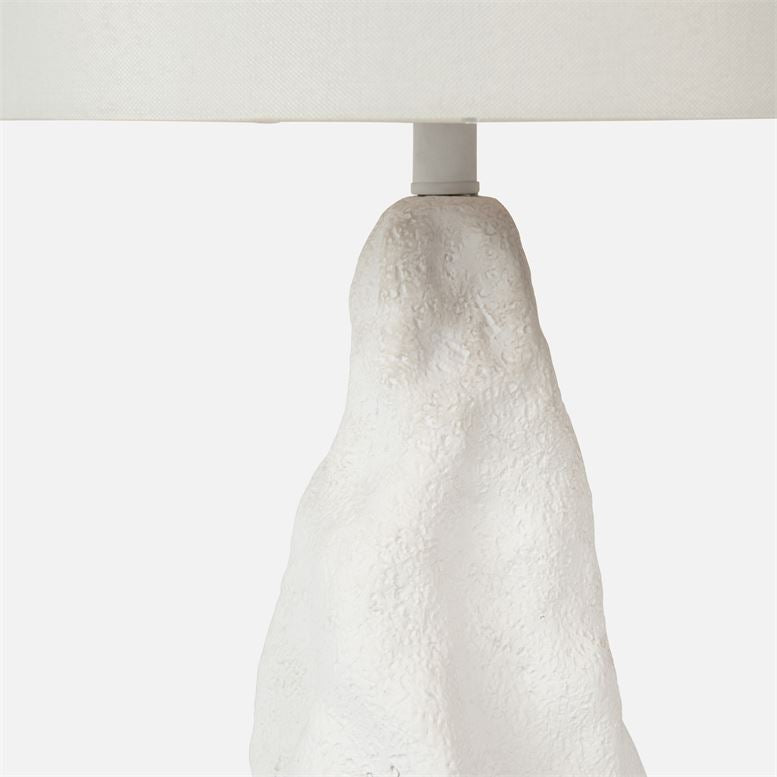 made goods paxton lamp matte white detail