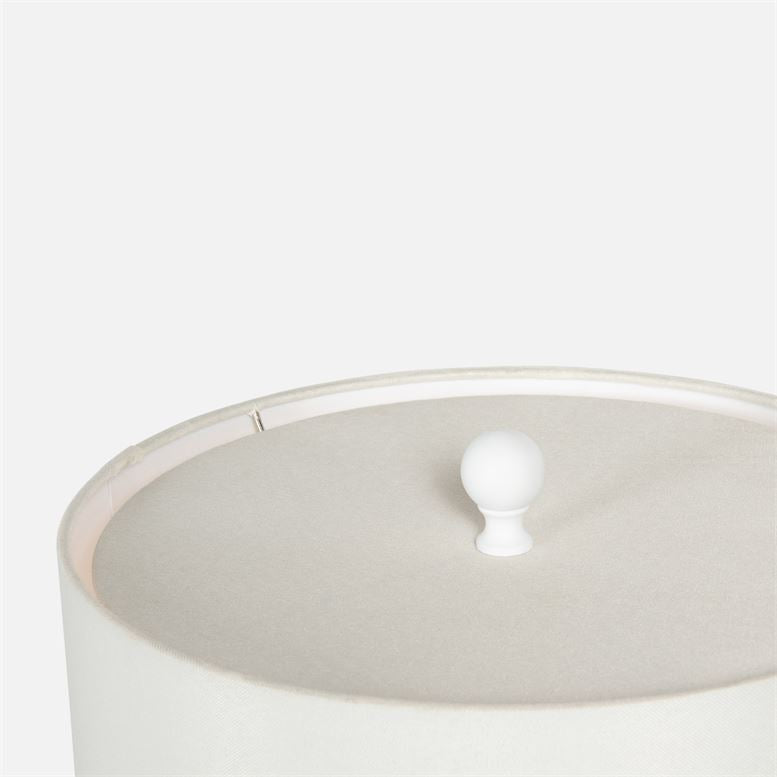 made goods paxton lamp matte white top detail