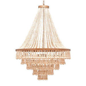 made goods pia large chandelier gold wood beads PIA LARGE (gold)
