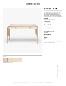 made goods pierre desk french gray