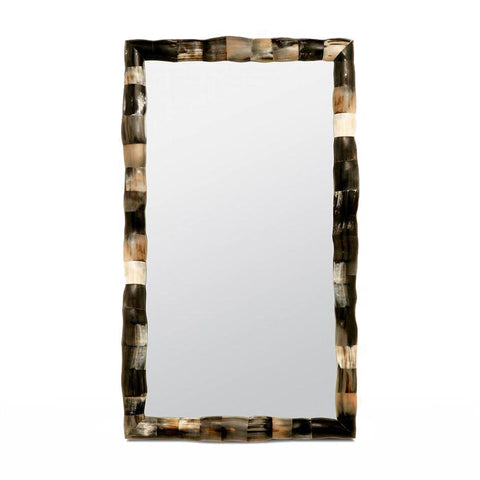 made goods pierson large rectangle mirror mixed horn
