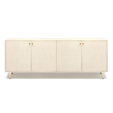 made goods ramon buffet 4 door off white faux raffia