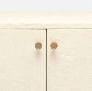made good ramon two door buffet off white faux raffia knobs