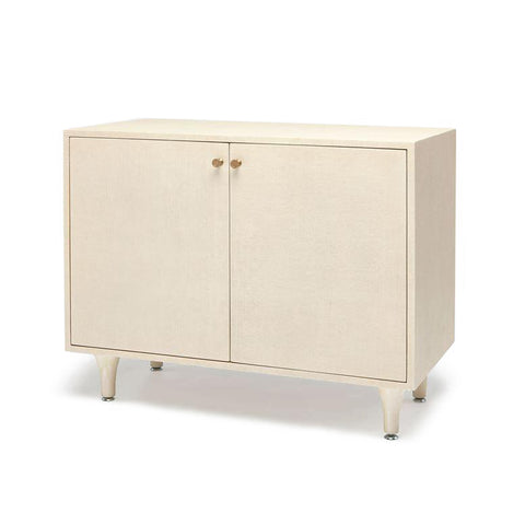 made good ramon two door buffet off white faux raffia