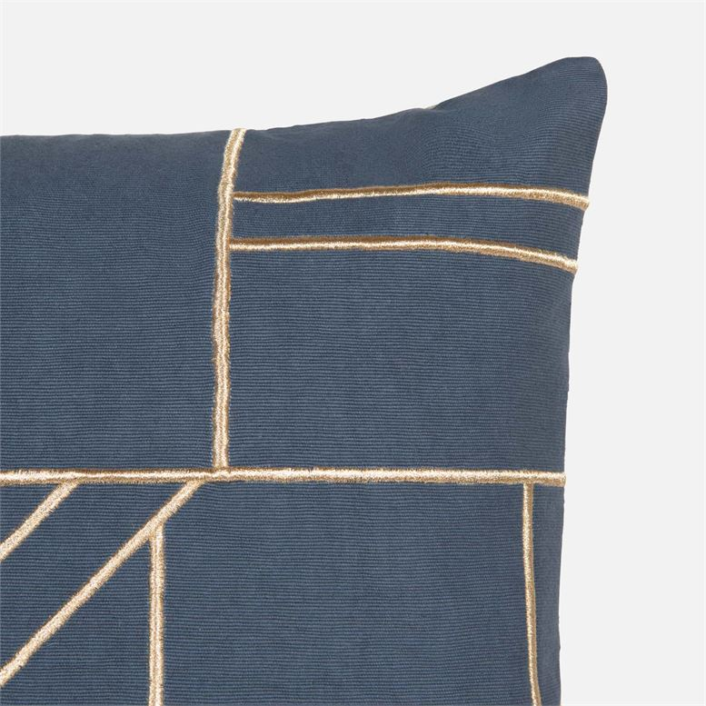 made goods roslyn square pillow navy top corner