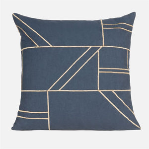 made goods roslyn square pillow navy