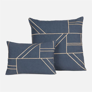 made goods roslyn square pillow navy with lumbar