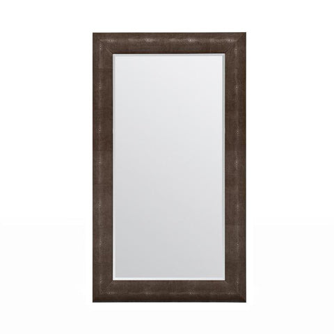 made goods sabine rectangle mirror dark mushroom faux shagreen