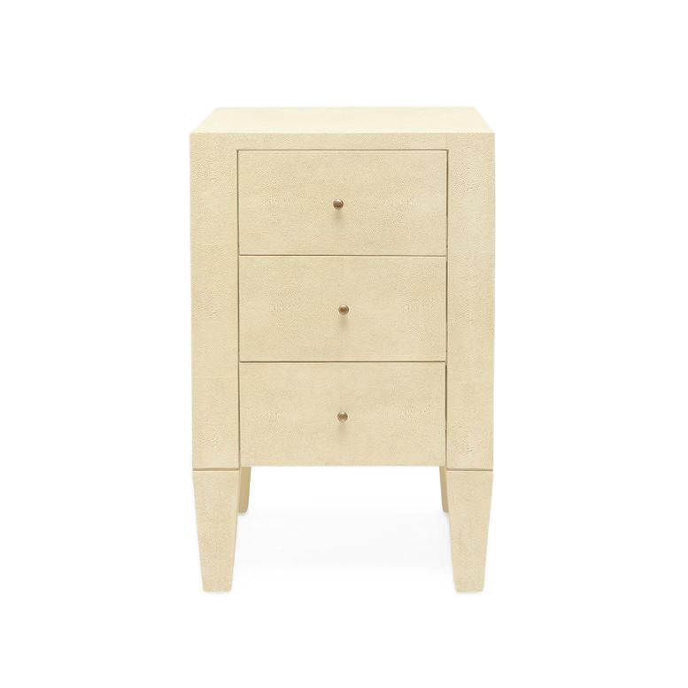 Made Goods Sorin 3-Drawer Single Nightstand Off White