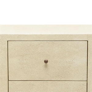 Made Goods Sorin 3-Drawer Single Nightstand Off White detail