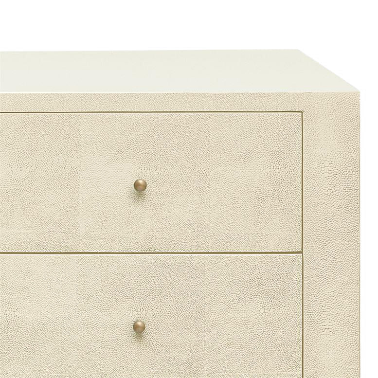"made goods sorin 60"" dresser off-white faux shagreen dresser furniture MG SORIN 60"" DRESSER OFFWHITE"