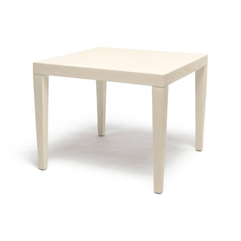 Sorin Game Table Off White Faux Shagreen
