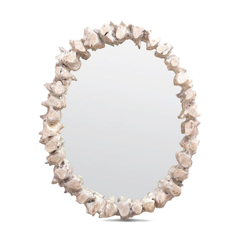 made goods tamas mirror oval whitewashed frame