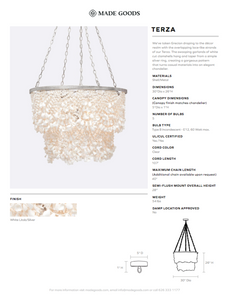 made goods terza chandelier tearsheet