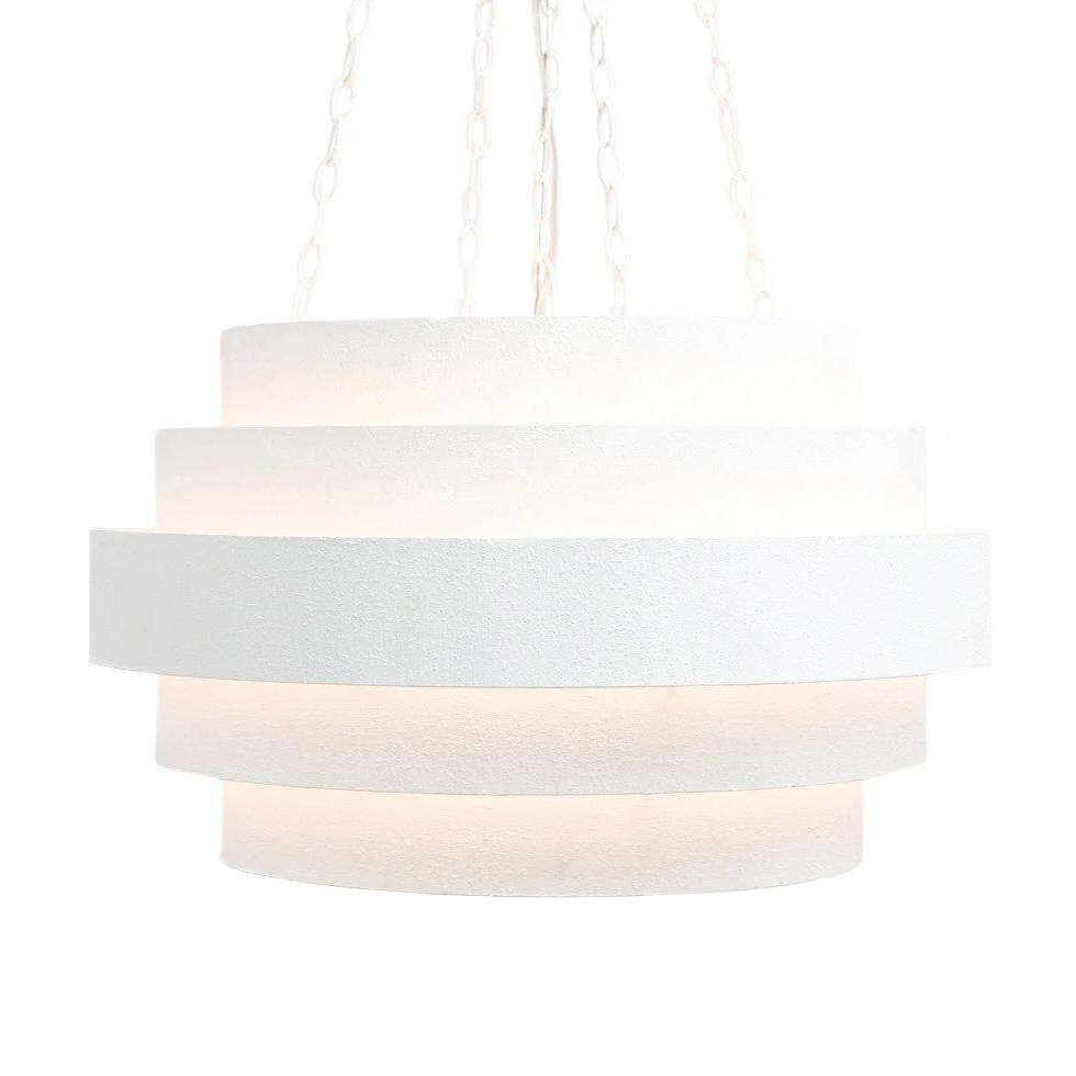 made goods thyra chandelier textured white