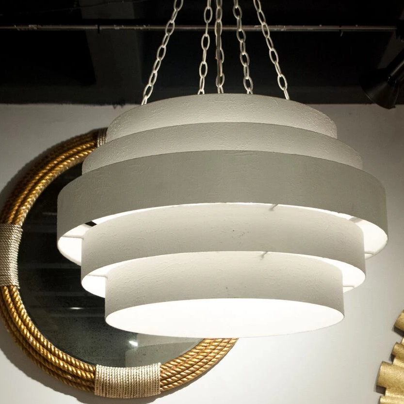Made Goods Thyra Chandelier in Textured White Metal