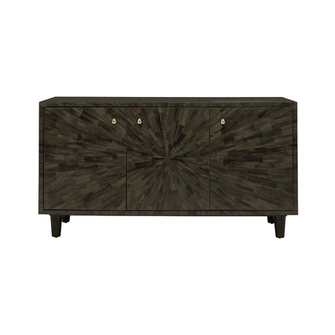 made goods torion three door buffet umber faux horn