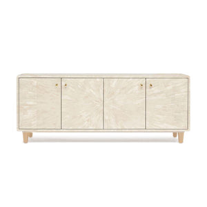 made goods torion 4 door cabinet faux ivory horn