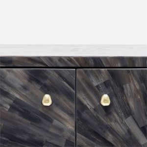 made goods torion four door buffet faux horn  detail