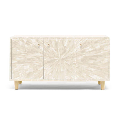 made goods torion three door buffet ivory