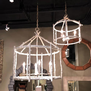 made goods trina chandelier small and medium hung in room