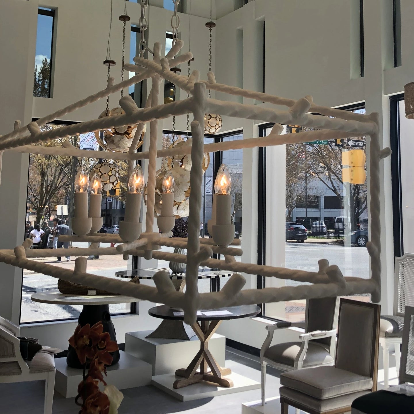 Made Goods Trina Twig Chandelier Rectangular