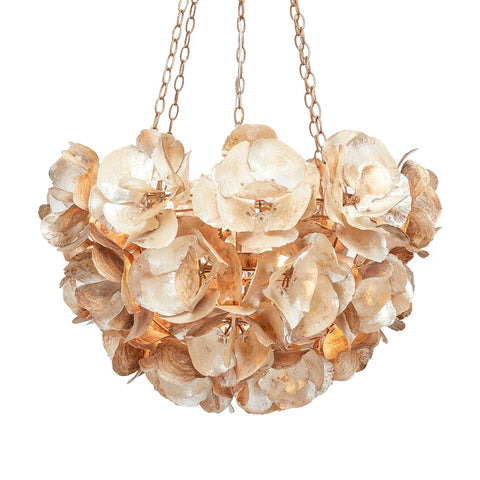 Made Goods Venus Chandelier Champagne Saddle