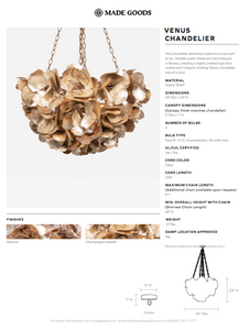 made goods venus chandelier detail champagne tearsheet