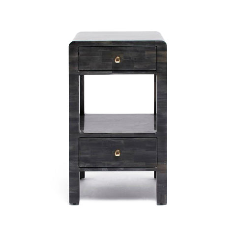 made goods yaren single nightstand dark faux horn front