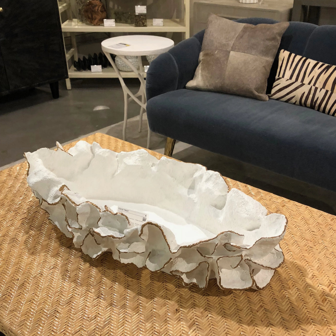made goods coco tray gold faux coral accessory table top tray showroom