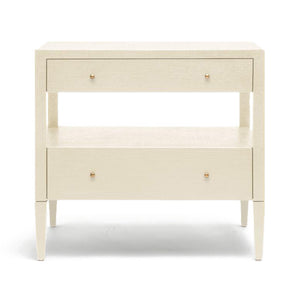 made goods double low nightstand off white