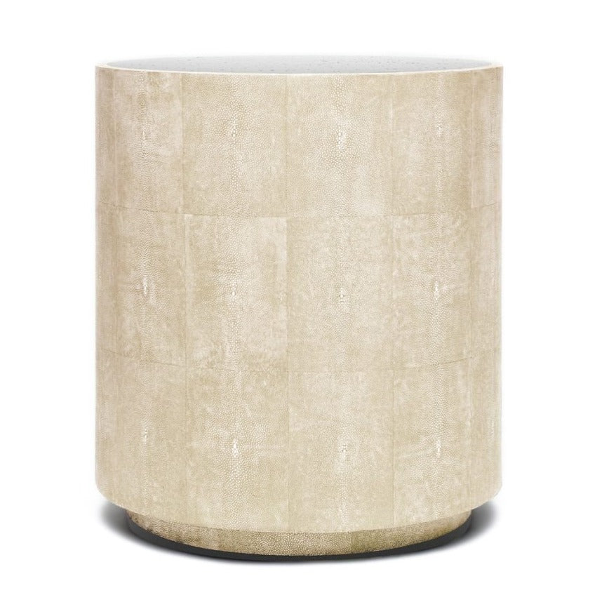 made goods cara shagreen side table ivory side table mirrored top side table modern side table