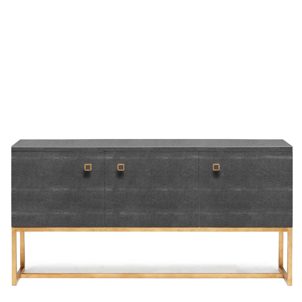 made goods dallon three door buffet grey gray dresser console table dining room furniture grey
