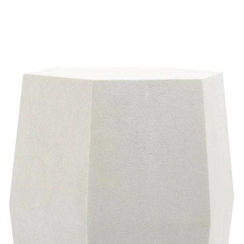 made goods daryl stool pristine white side table hexagon top