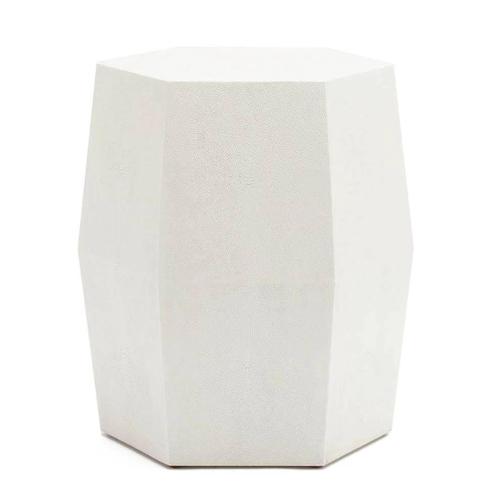 made goods daryl stool pristine white side table hexagon