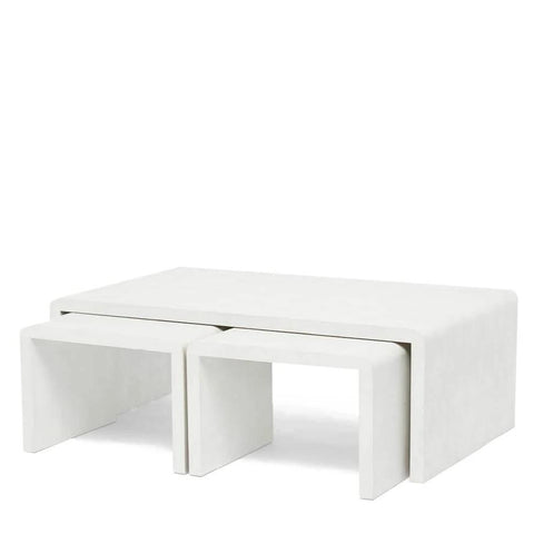 made goods harlow nesting coffee tables blanc shagreen
