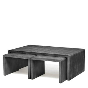 made goods harlow nesting tables cool gray shagreen