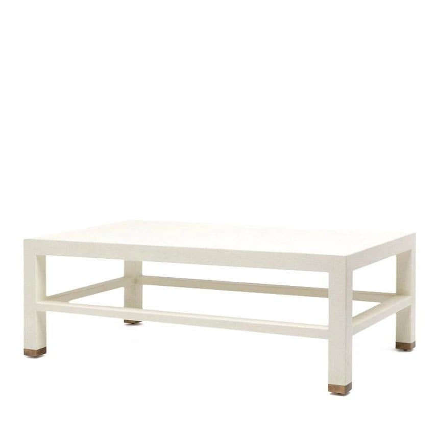 made goods jarin coffee table white belgian faux linen side