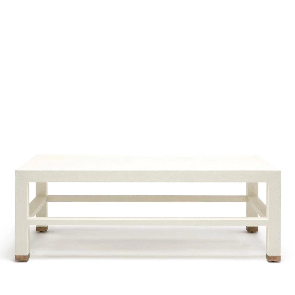 made goods jarin coffee table white belgian faux linen