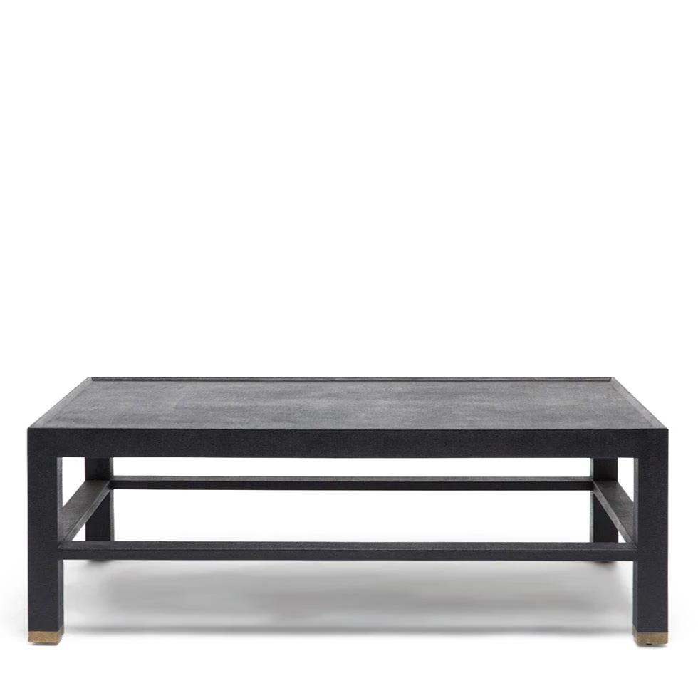 made goods jarin coffee table dark blue belgian linen