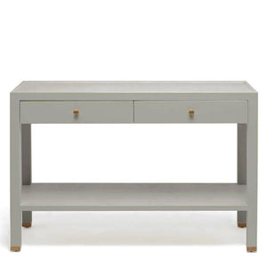 made goods jarin console light gray belgian linen drawers