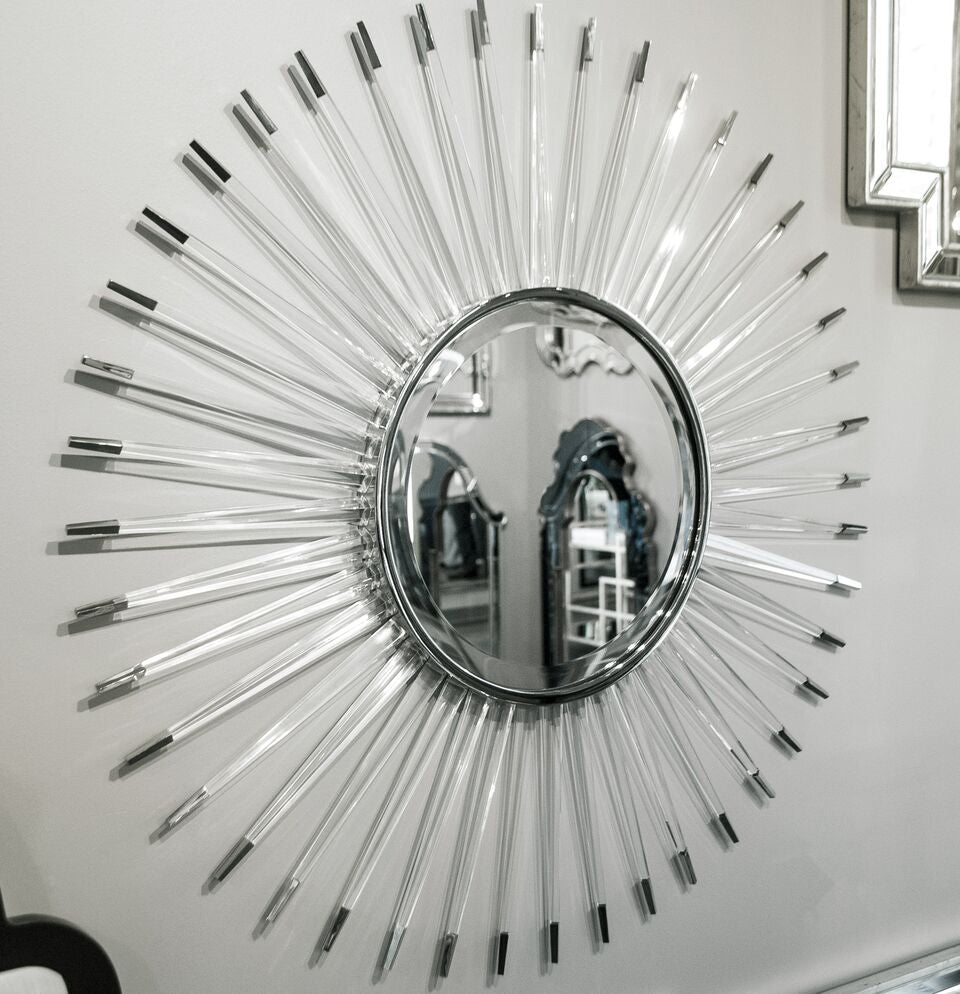 mirror image home acrylic and nickel starburst mirror