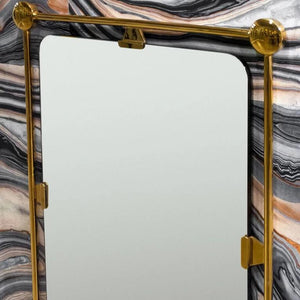 mirror image home burnished brass mirror rectangle
