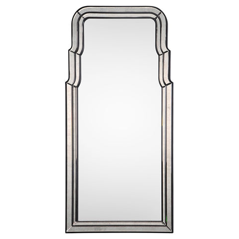 mirror image home Ebony & Antiqued Mirror Framed Mirror BW3006