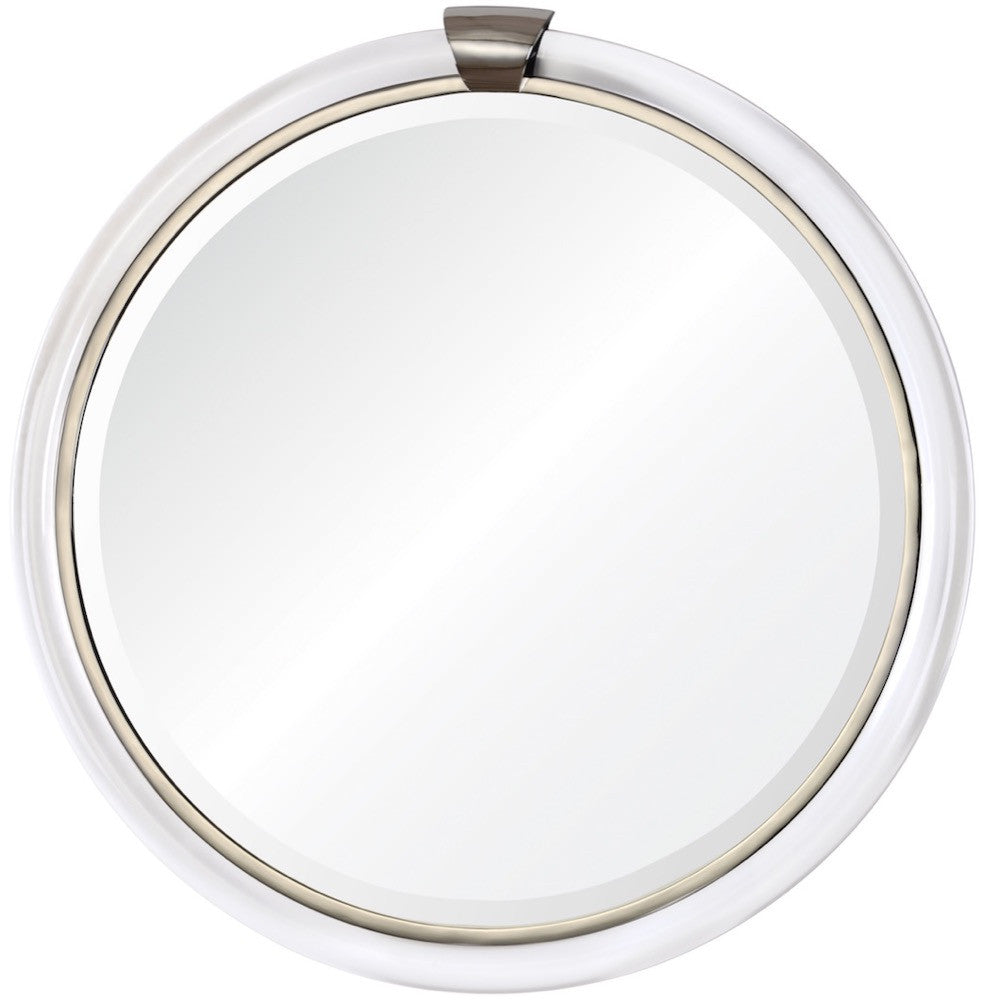 mirror image home acrylic and nickel round mirror 20387