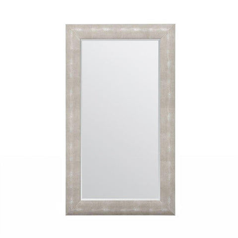 made goods sabine rectangular mirror sand faux shagreen