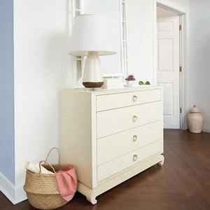 bungalow 5 ming 4 drawer cabinet natural grasscloth