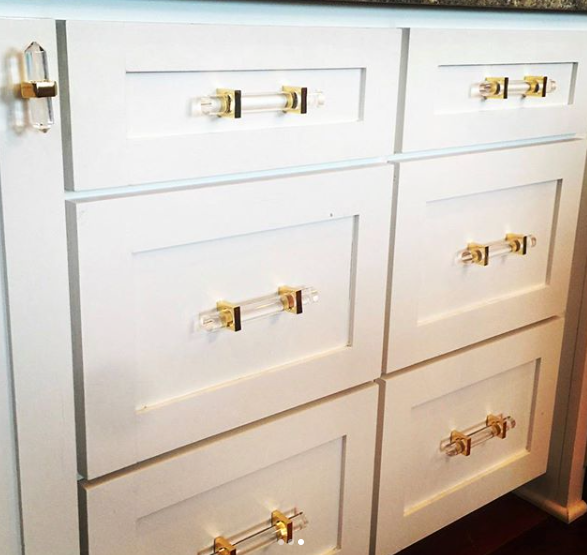 worlds away monica hardware acrylic brass nickel drawer