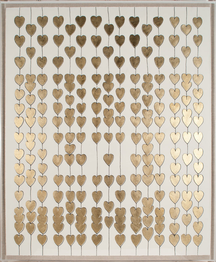 Natural Curiosities Cartier Heart Strings Gold Leaf Artwork