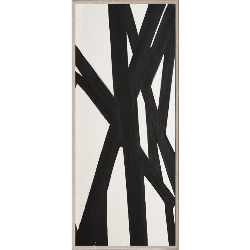 Black and White Abstract Panel Pair Framed Artwork